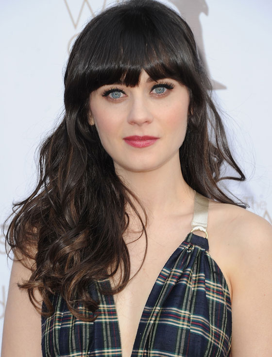 My top ten fiercest celebrity hairstyles of 2012Zooey Deschanel Bangs Cut