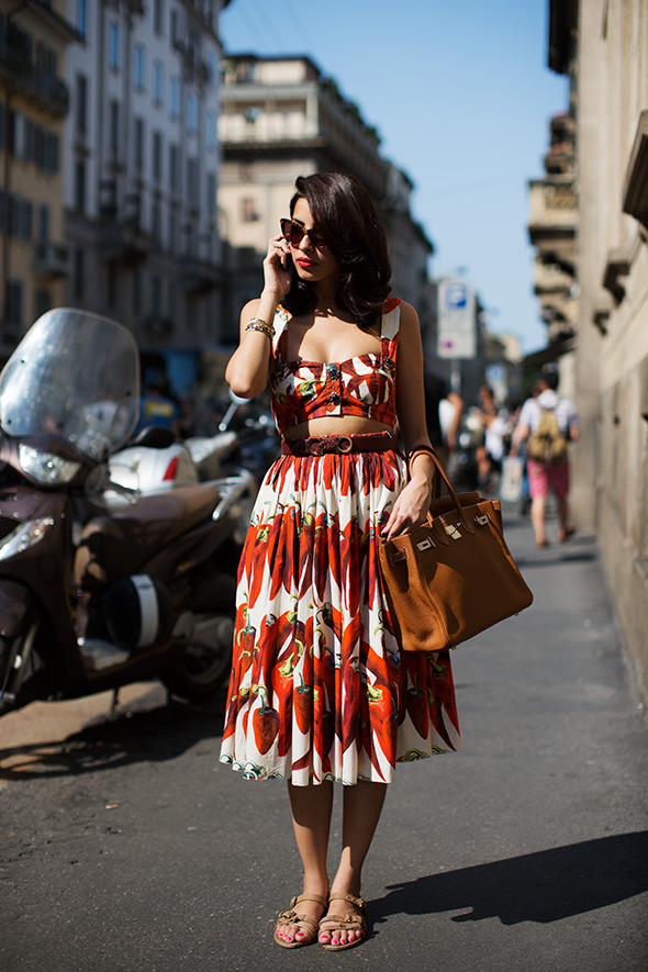 The beautiful Antara Motiwala wearing Dolce & Gabbana in Milan