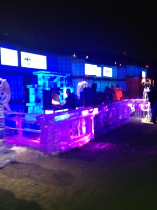 Igloofest ice bar