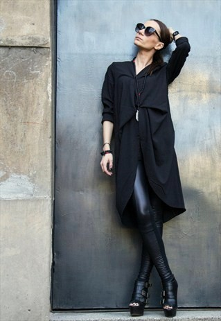 Black Trench Coat by Aakasha Boutique £62.00