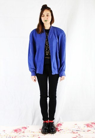 Vintage Silk Bomber Jacket  Now £8.40